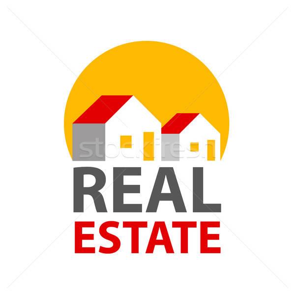 Сток-фото: недвижимости · логотип · личности · дизайн · логотипа · шаблон · дома