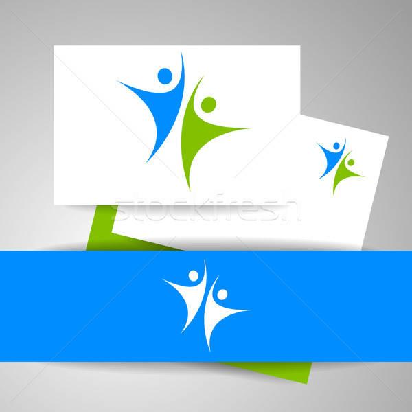 éxito equipo plantilla logo identidad negocios Foto stock © antoshkaforever