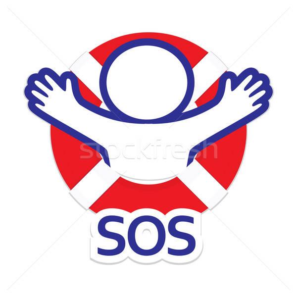 Sos 簽署 符號 國際 信號 商業照片 © antoshkaforever