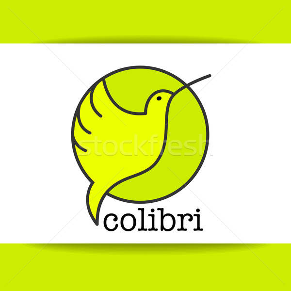 colibri bird sign Stock photo © antoshkaforever