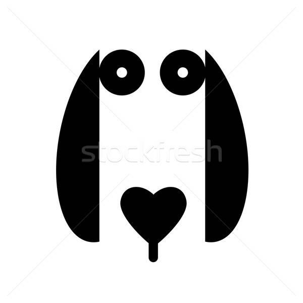Ingatlan logo arculat kutya állat felirat Stock fotó © antoshkaforever