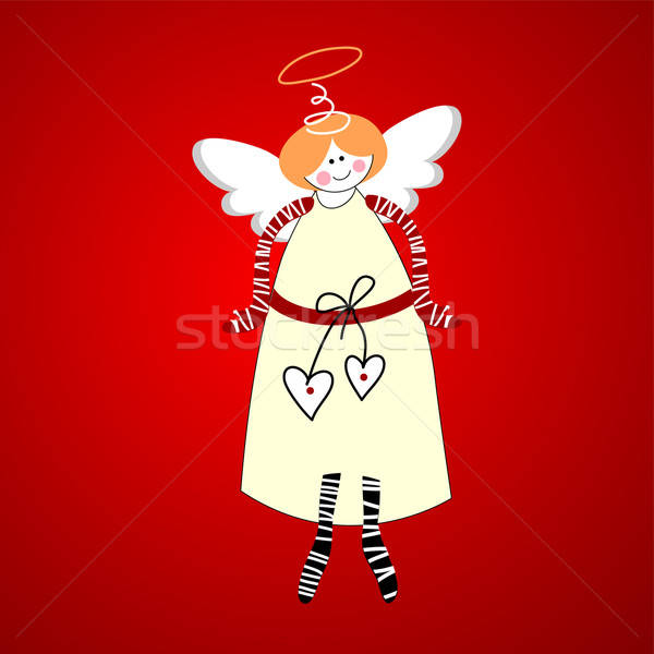ангела символ счастье любви вектора сердце Сток-фото © antoshkaforever