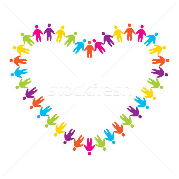Felirat szeretet barátság szív művészet zöld Stock fotó © antoshkaforever