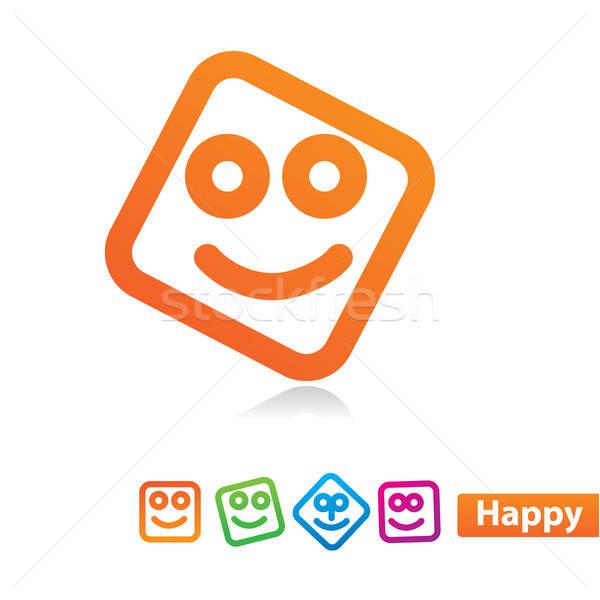 счастливым улыбка вектора лице дизайна Сток-фото © antoshkaforever