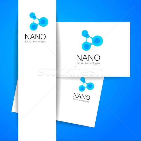 Nano logotipo nanotecnologia modelo projeto vetor Foto stock © antoshkaforever