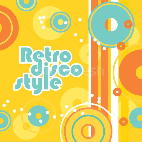 ретро стиль дискотеку вечеринка счастливым дизайна Сток-фото © antoshkaforever