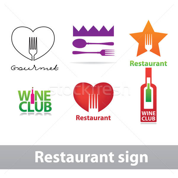 Stock photo: Restaurant-sign