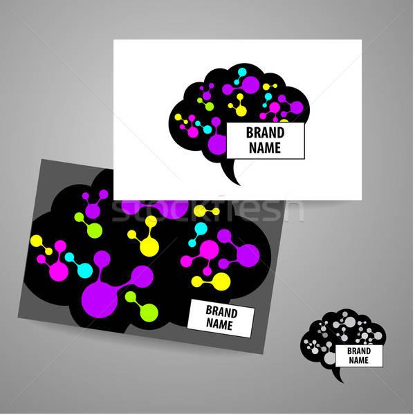 brain sign logo Stock photo © antoshkaforever