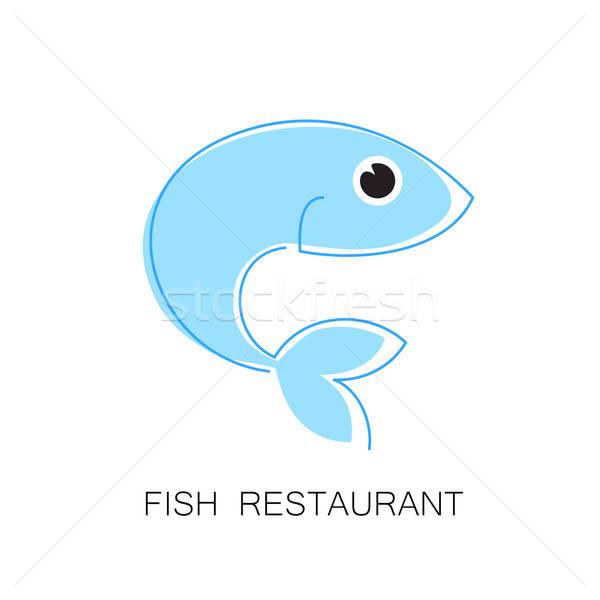 Balık restoran logo şablon marka kimlik Stok fotoğraf © antoshkaforever