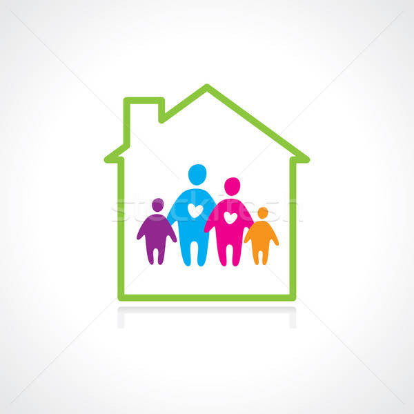 Stock photo: family-home