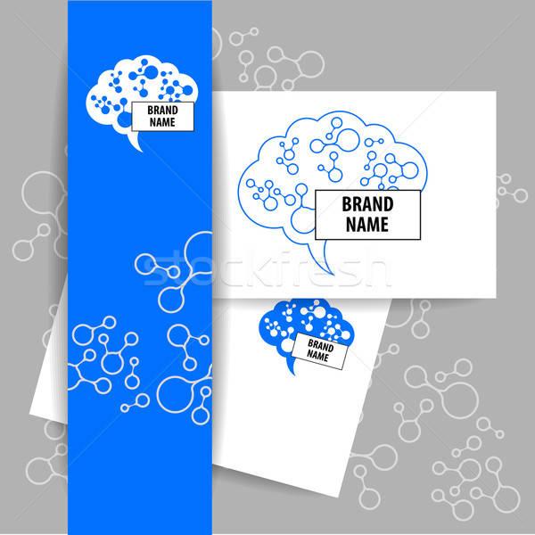 мозг знак логотип шаблон дизайна Сток-фото © antoshkaforever