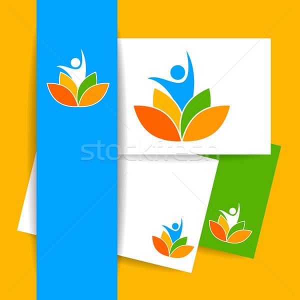 yoga lotos logo template Stock photo © antoshkaforever