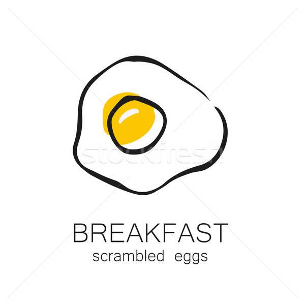 Reggeli rántotta sült sablon terv logo Stock fotó © antoshkaforever