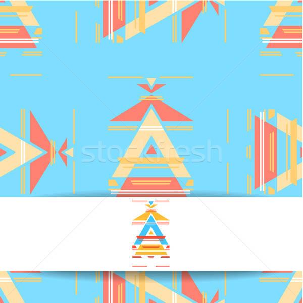 этнических аннотация шаблон шаблон дизайна Сток-фото © antoshkaforever