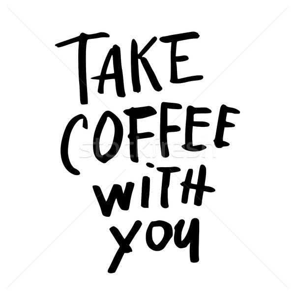 咖啡 手 書面 設計 商業照片 © antoshkaforever