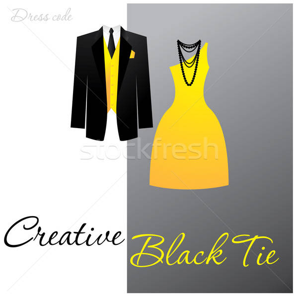 Kıyafet yaratıcı siyah kravat adam Stok fotoğraf © antoshkaforever