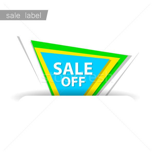продажи знак Label вектора шаблон дизайна Сток-фото © antoshkaforever