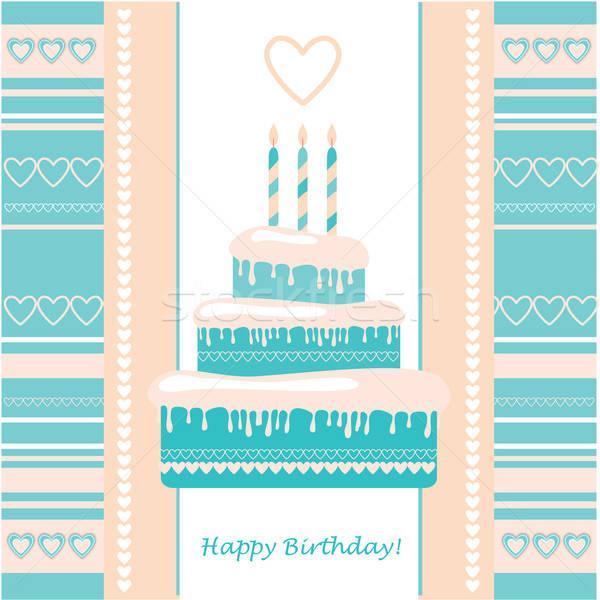 шаблон С Днем Рождения семьи бумаги любви Сток-фото © antoshkaforever