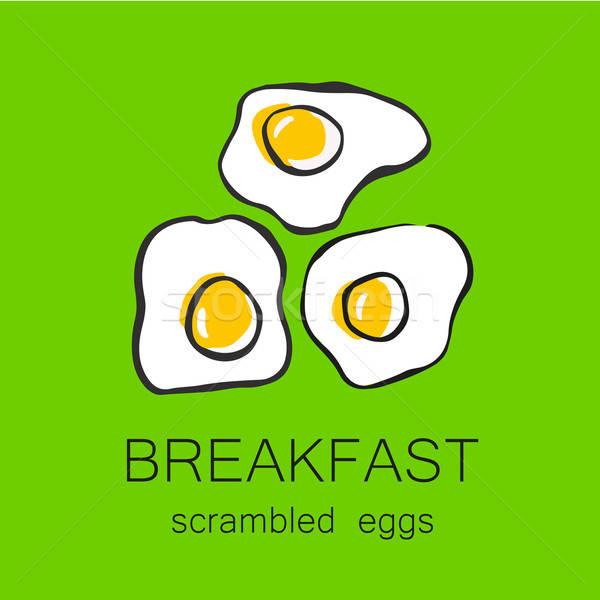 завтрак жареный шаблон дизайна логотип Сток-фото © antoshkaforever