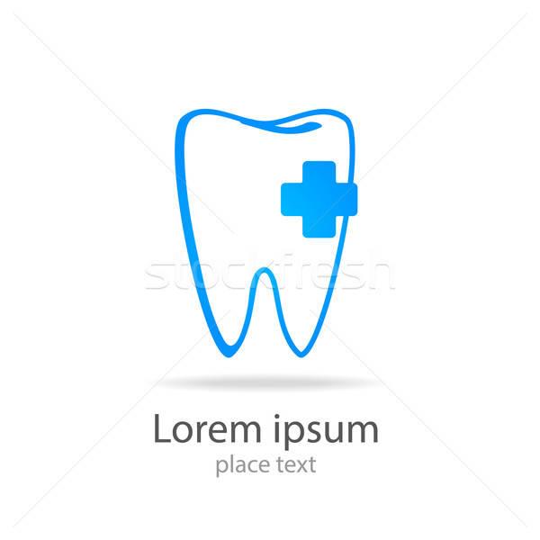 Imzalamak diş klinik dişçi logo Stok fotoğraf © antoshkaforever