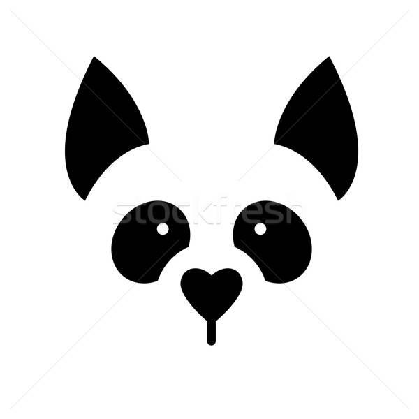 собака животного шаблон знак иллюстрация Идея Сток-фото © antoshkaforever