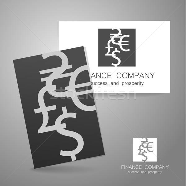 финансовых компания доллара евро знак логотип Сток-фото © antoshkaforever