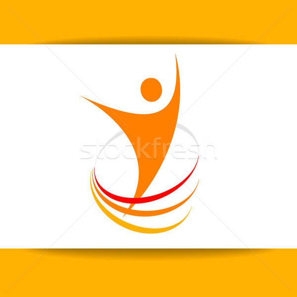 Sucesso energia modelo design de logotipo símbolo vencedor Foto stock © antoshkaforever
