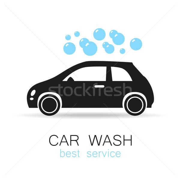洗車 簽署 標誌 向量 模板 設計 商業照片 © antoshkaforever