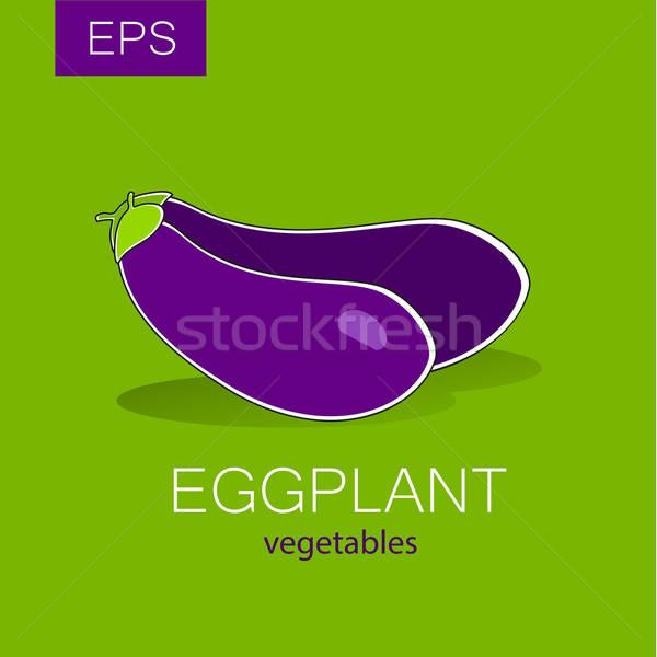 茄子 蔬菜 向量 簽署 標籤 主意 商業照片 © antoshkaforever