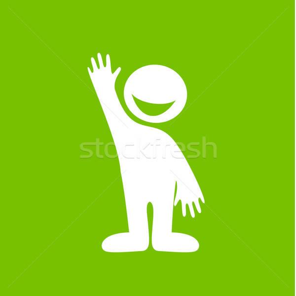 счастливые люди приветствую знак жест дружественный счастливым Сток-фото © antoshkaforever