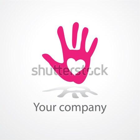 Imzalamak barış sevmek iş bilgisayar el Stok fotoğraf © antoshkaforever