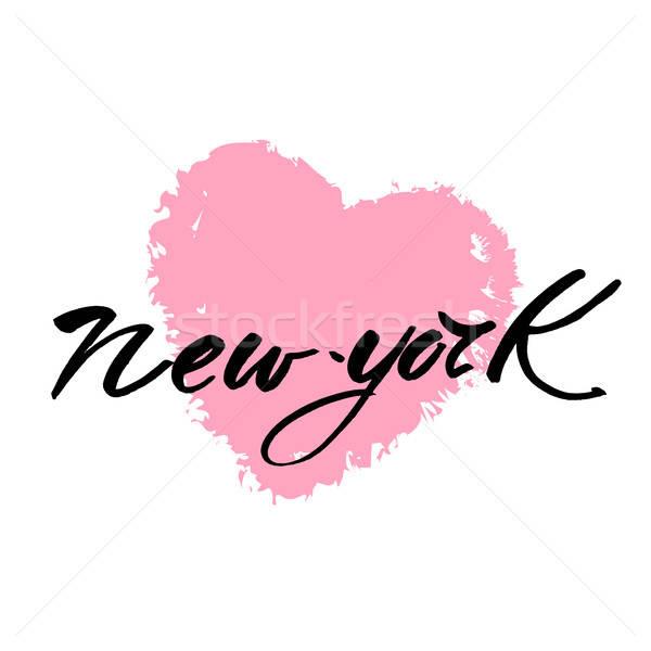 New York sevmek metin New York tasarım şablonu Stok fotoğraf © antoshkaforever