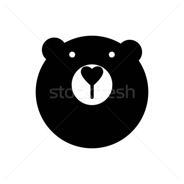 クマ 動物 にログイン マスコット アイデア ロゴ ストックフォト © antoshkaforever