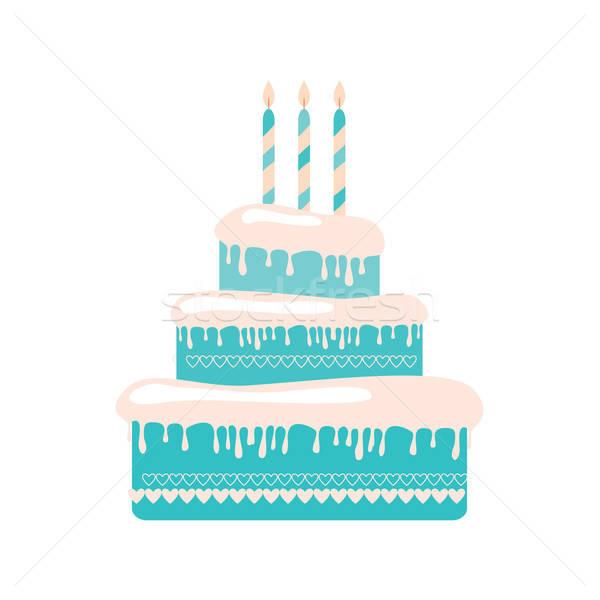 ケーキ 歳の誕生日 パーティ 愛 中心 楽しい ストックフォト © antoshkaforever