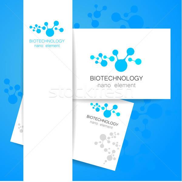 биотехнология логотип вектора шаблон аннотация знак Сток-фото © antoshkaforever