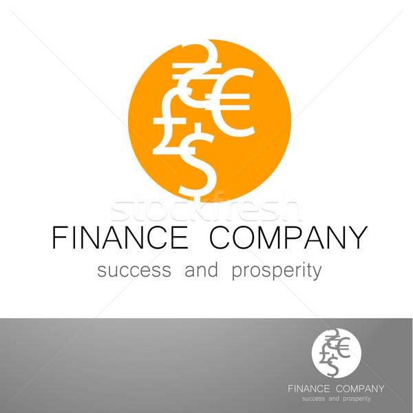 Stock photo: financial company dollar euro sign logo