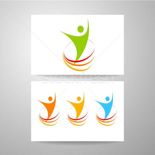 éxito energía plantilla diseño de logotipo símbolo ganador Foto stock © antoshkaforever