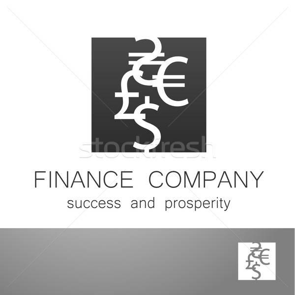 Finansal şirket dolar euro imzalamak logo Stok fotoğraf © antoshkaforever
