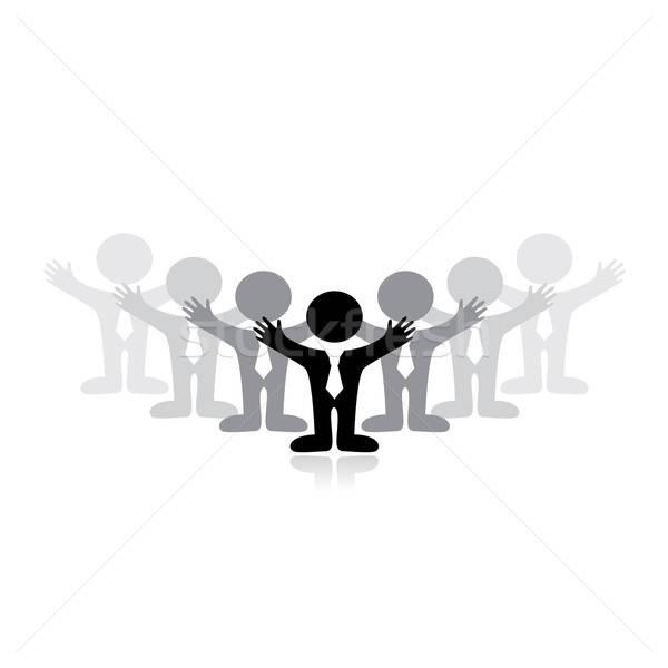 Symbole réussi équipe commerciale affaires main bâtiment Photo stock © antoshkaforever