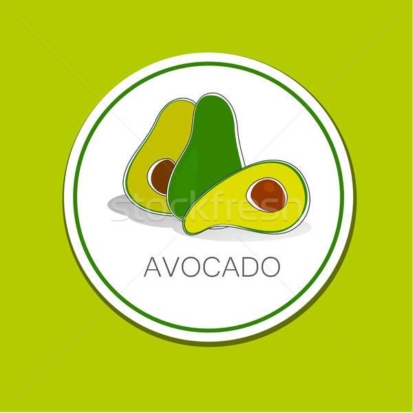 авокадо вектора знак Label Идея упаковка Сток-фото © antoshkaforever
