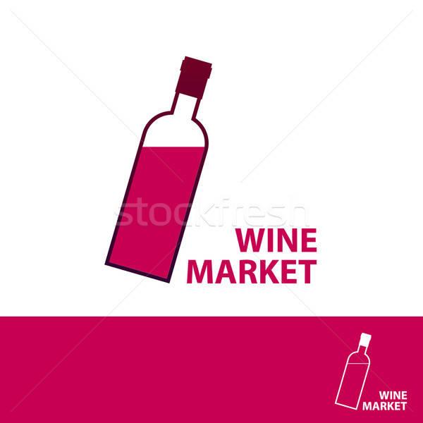 Vino mercato modello design logo business Foto d'archivio © antoshkaforever