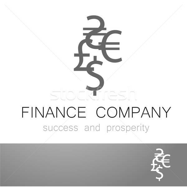 financial company dollar euro sign logo Stock photo © antoshkaforever