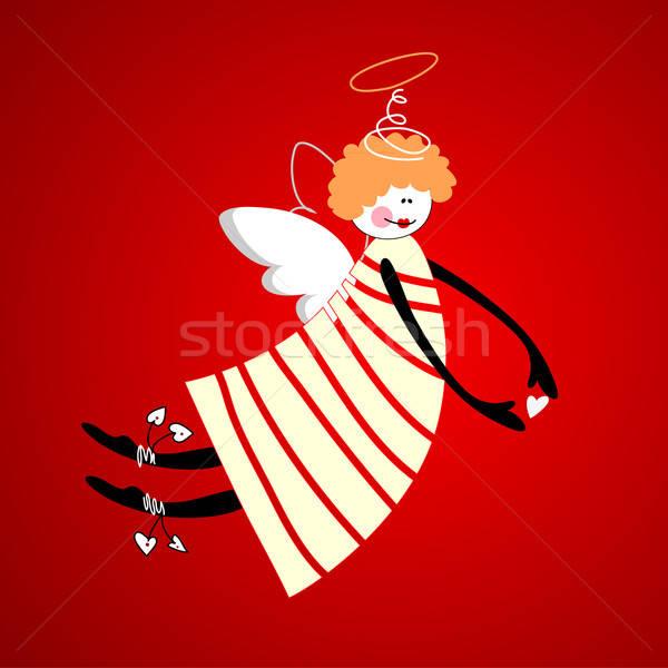 ангела любви счастье гармония вектора сердце Сток-фото © antoshkaforever