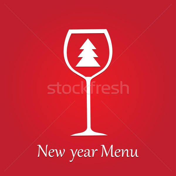 new-year-menu-2013 Stock photo © antoshkaforever