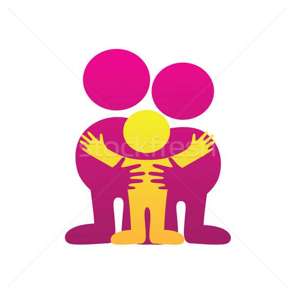 Idea segno simbolo parentale amore famiglia Foto d'archivio © antoshkaforever