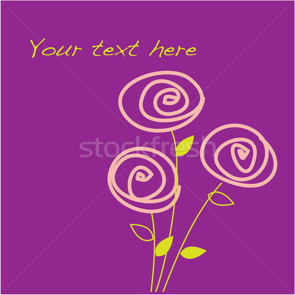 Sablon üdvözlőlap rózsa terv keret szépség Stock fotó © antoshkaforever