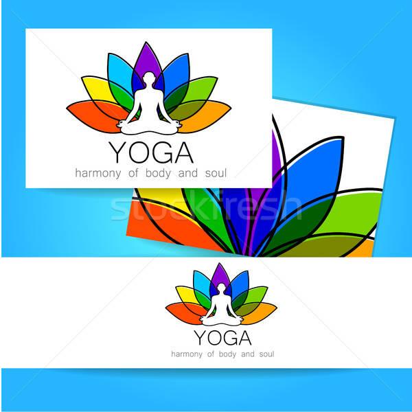 lotos yoga logo Stock photo © antoshkaforever