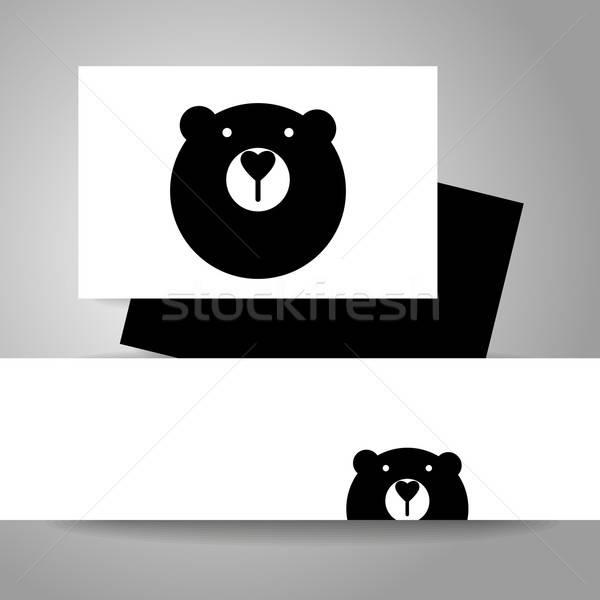 Medve állat sablon logo arculat kabala Stock fotó © antoshkaforever