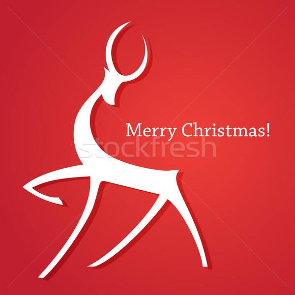 şablon Noel kartları neşeli yeni yıl Stok fotoğraf © antoshkaforever