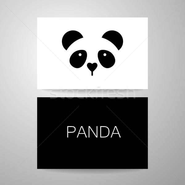Panda tenha modelo carteira de identidade projeto idéia Foto stock © antoshkaforever